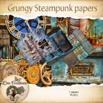 Grungy steampunk papers