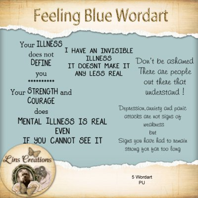 Feeling Blue wordart