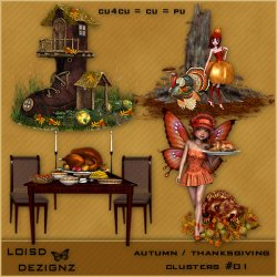 Autumn/Thanksgiving Clusters #01- CU4CU